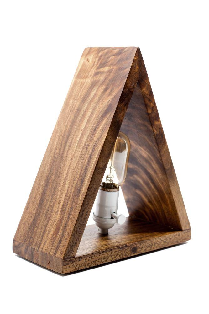 Edison Bulb Triangle Lamp