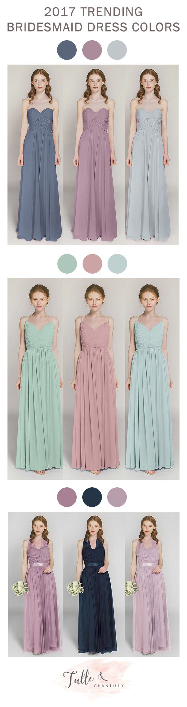 bridesmaid dress colors for wedding trends 2017
