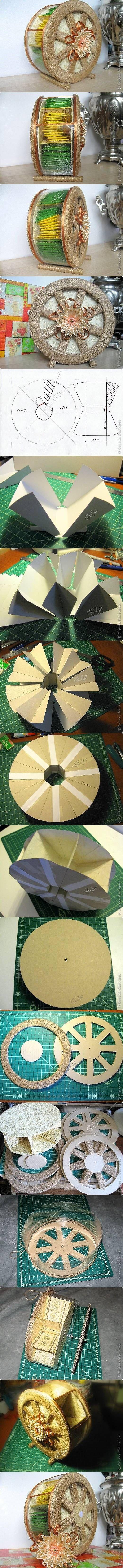 DIY Handmade Tea Wheel via usefuldiy.com