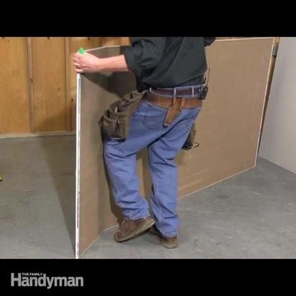 how to cut narrow drywall