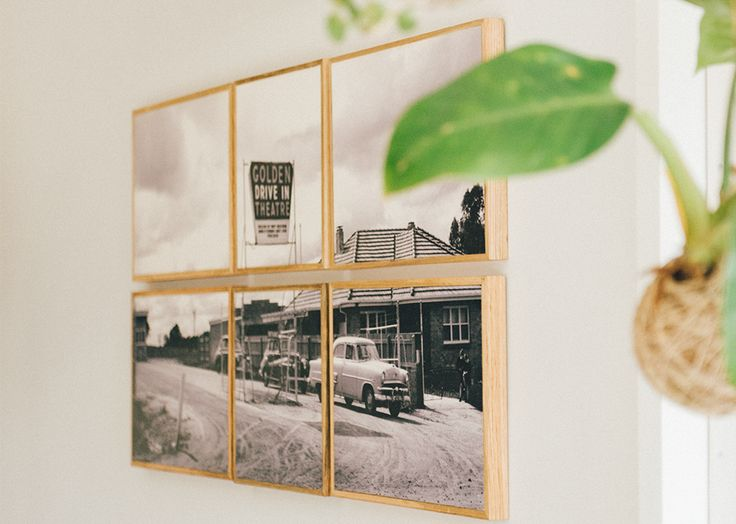 Drive In Cinema - an old slide converted in to a large stone + wood wall feature polyptych   by www.onstone.com.au