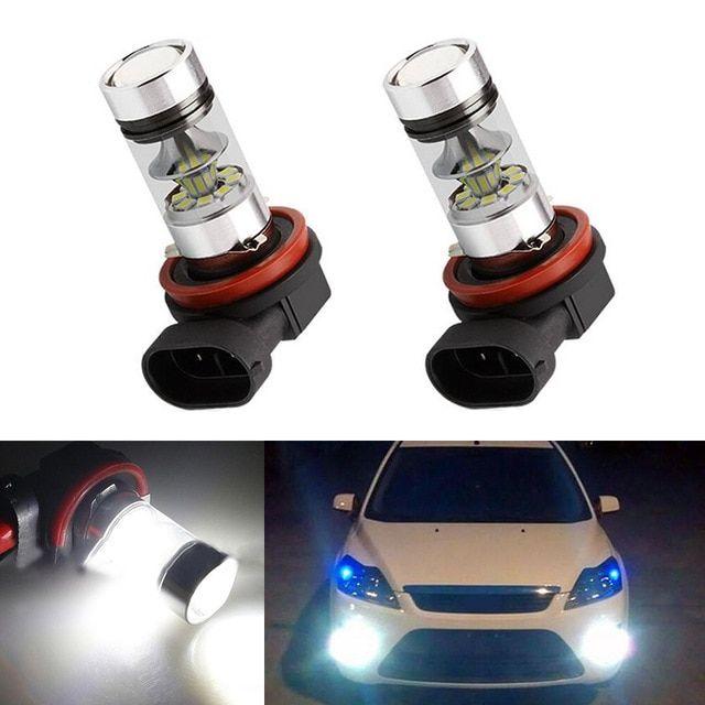 2x H8 H11 Led Bulb Fog Lights Car Lamp Auto Light Bulbs For