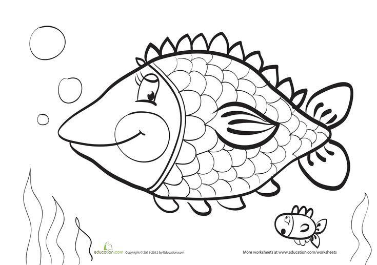 Fish Coloring Page Fish Coloring Page Coloring Pages Rainbow Fish