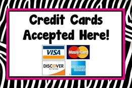 Credit cards accepted! Payments are processed using PayPal's secured site. I have no access to your credit card information so ... feel comfortable and ... shop away! www.facebook.com/bedazzledbyruby.com www.paparazziaccessories.com/21056 www.twitter.com/bedazzledbyruby www.bedazzledbyruby@gmail.com
