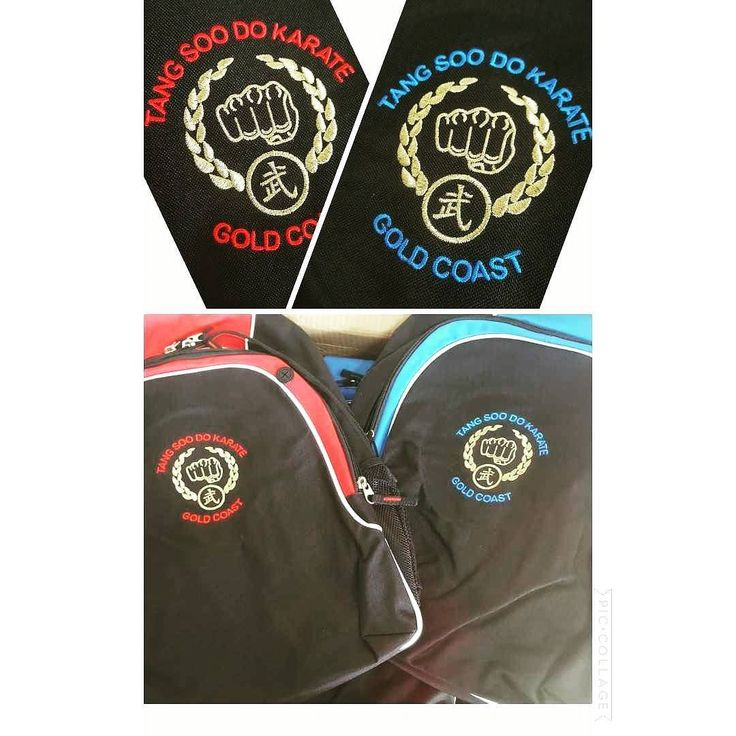 Love the gold thread in the embroidery on these backpacks! They look great a hit with the karate kids for sure :)