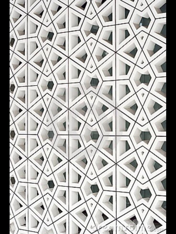Adele Dejak Typo-Graphic designer, BLACK + WHITE Traditional Muslim Pattern.