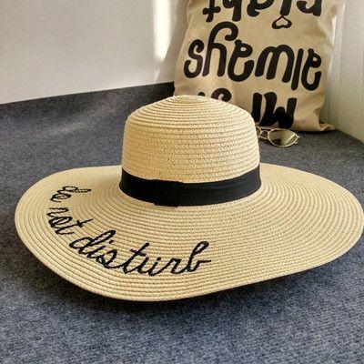Chapeau Large Straw Floppy Sun Hats For Women Fashion Letter Female Summer Hats Ladies Wide Brim Beach Hats