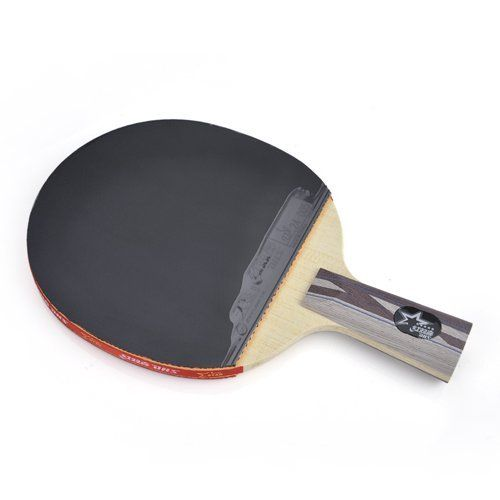 DHS Table Tennis Racket X5006, Ping Pong Paddle Penhold by DHS. $37.64. Model: 8DHS-AB05590 (#X5006)Material: Quality Wood and RubberLevel: SUPERSTAR (5 Star)Handle: Chinese Penhold / Short HandleBlade Ply: 5 Ply Professional WoodFront Side Rubber: Red Hurricane III Pimples InReverse Side Rubber: Black Skyline T.G.II Pimples In (color maybe reversed)Fitted Play: Loop with quick-attackRecommended features: 1. 5 Ply professional all-round blade with imported wood face layer. 2. ...