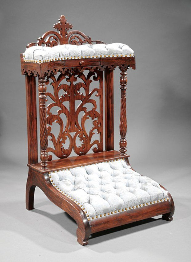 American Carved Rosewood Prie Dieu Lot 170 Chairs