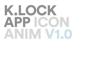 K.lock app / Icon Animation by Ricardo Matos