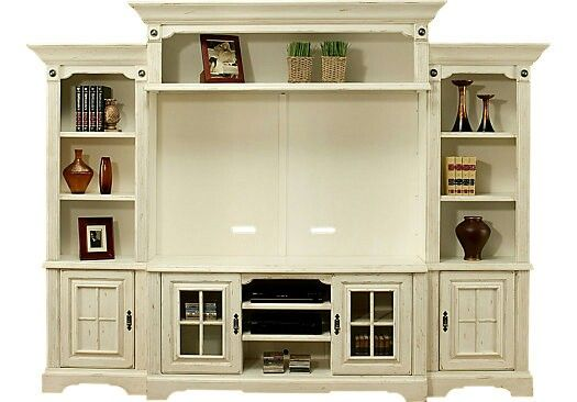 Distressed Entertainment Center Living Room Ideas