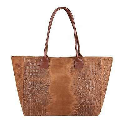 ITAL DAMEN LEDER TASCHE KROKO Shopper Handtasche Schultertasche Ledertasche Bag:… – Italyshop24.com
