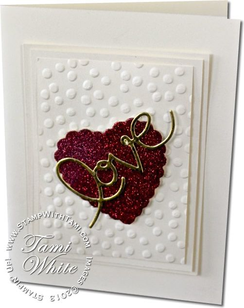 Valentines Day Expressions Love Card using Sizzix Expressions Thinlits (Love) & Hearts a Flutter Framelits
