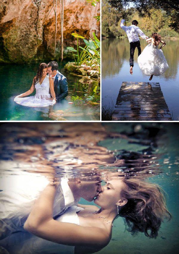La sesión de fotos de vestidos de novia trash the dress puede ser realizada en escenarios como el bosque o el campo #bodas #elblogdemaríajosé #trashthedress #fotosboda #weddings