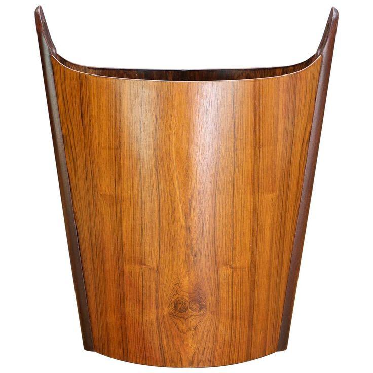 1960s Rosewood Scandinavian Office Waste Paper Basket