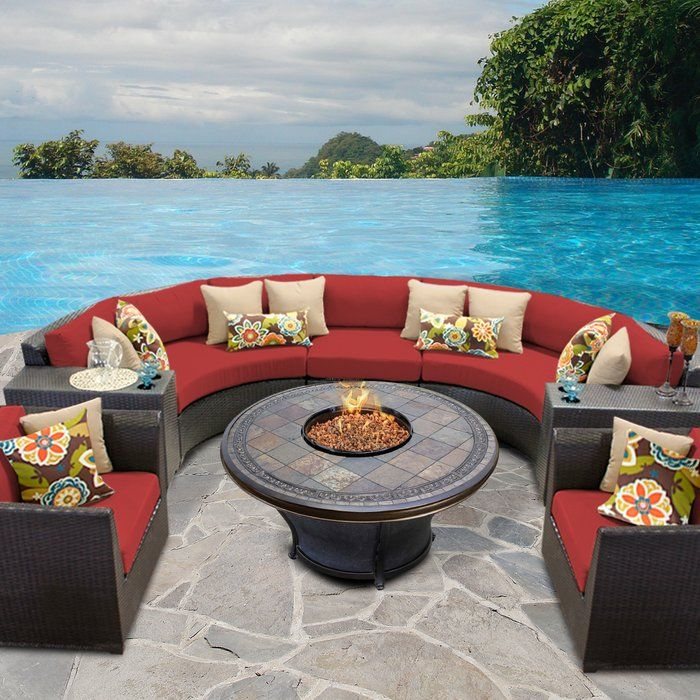 Rosecliff Heights Medley 8 Piece Sectional Seating Group With