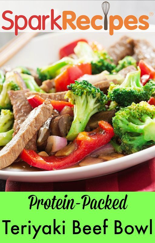 Beef sirloin steak with broccoli, tomatoes and water chestnuts in a zesty teriyaki sauce, served over flavorful jasmine rice.  via @SparkPeople