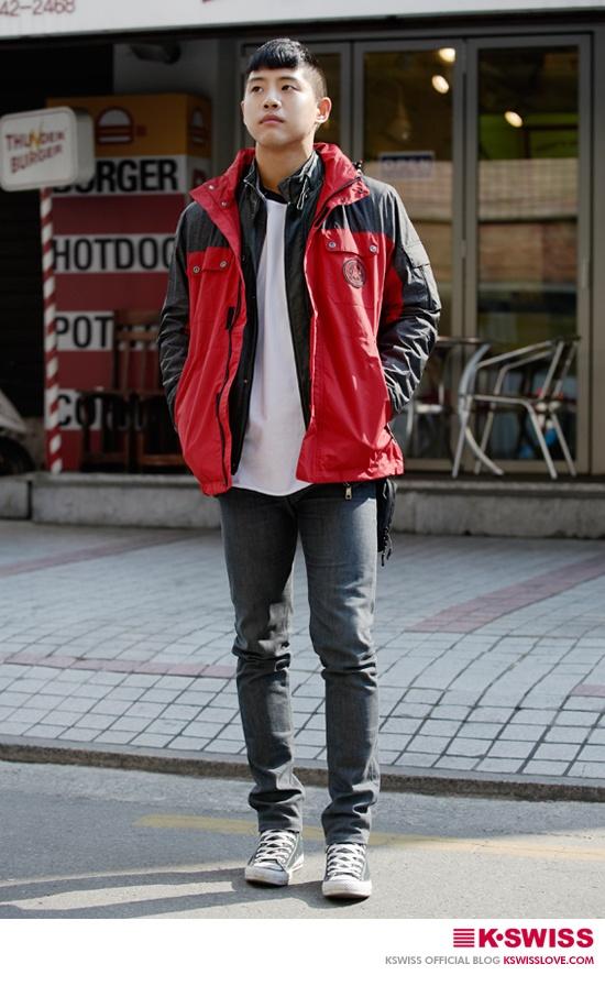 K-SWISS KOREA man style street fashion #wind_JK  #kswissloveblog