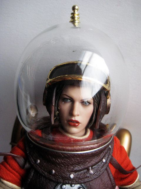 Wilma Deering Wearing Bubble Helmet 3641 by Brechtbug, via Flickr found at: http://www.pinterest.com/theatomichouse/space-galactic-inspiration/