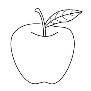 Tasty Apple Coloring Page Sky