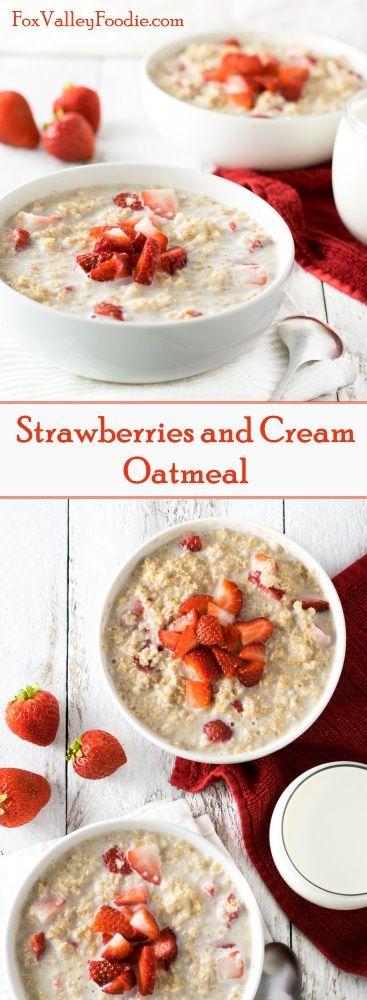 Strawberries and Cream Oatmeal Recipe