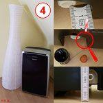 Honeywell mobiles Klimagerät, 3-in-1 Funktion: Klimaanlage, Entfeuchter, Ventilator
