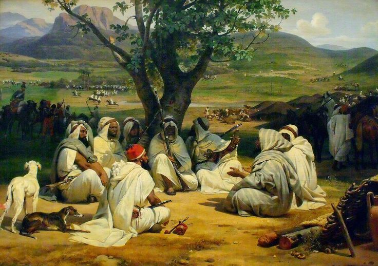 Horace Vernet - Arab Chieftains in Council (The Negotiator) 1834