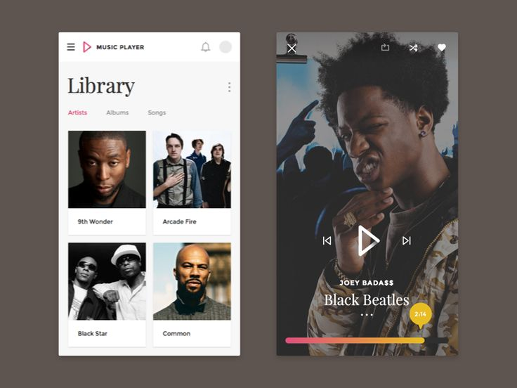 Library & Now Playing - Music App by Amit Jakhu