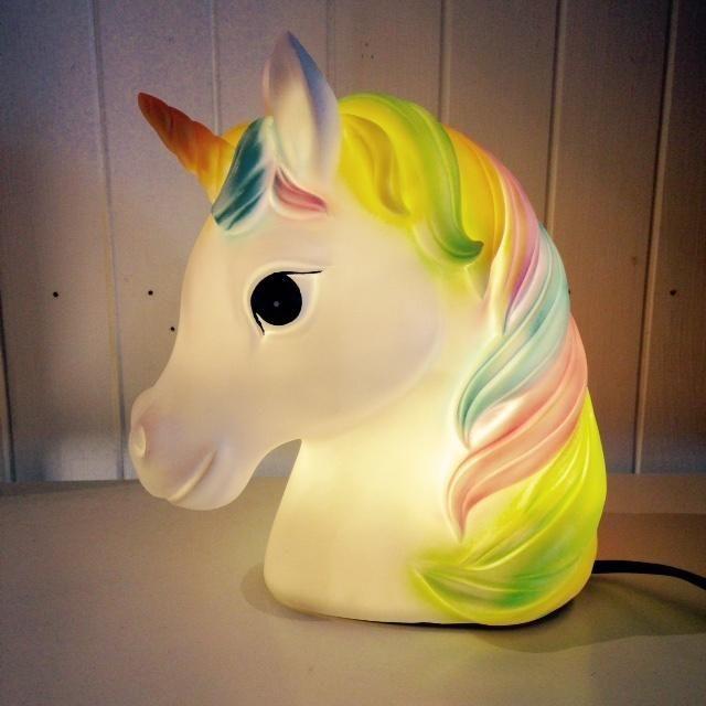 Unicorn Rainbow Table Lamp | i love lights #kidsroom