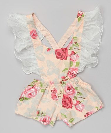 Pink Floral Ruffle Romper by Blossom Couture #zulilyfinds