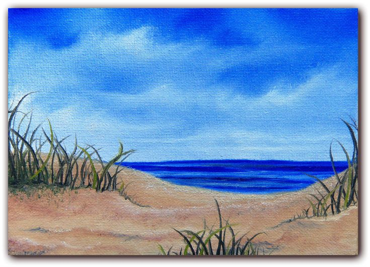 Original Seascape Oil Painting, Sandy Beach Ocean Painting, Coastal Art Beach…