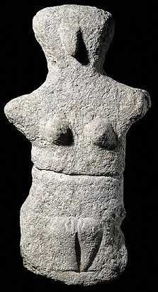 Mother Goddess figurine From the island of Kárpathos, Aegean Sea - Neolithic period, about 4500-3200 BC - at the British Museum