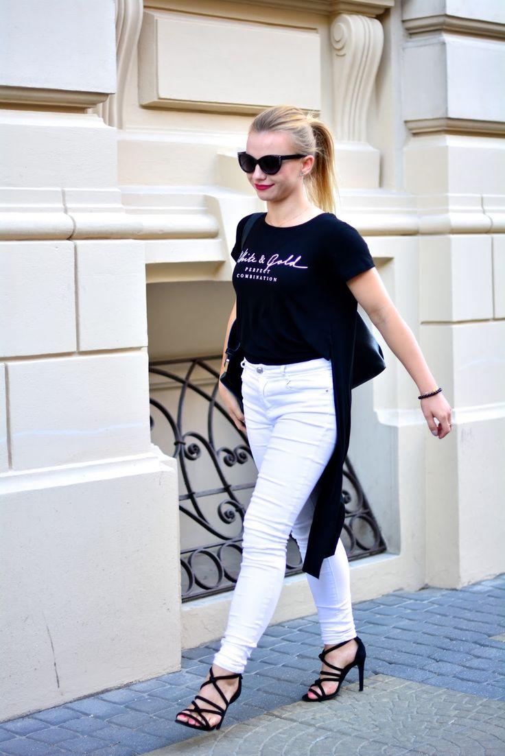 wantataste: Białe spodnie ulubieńcem ostatnich dni