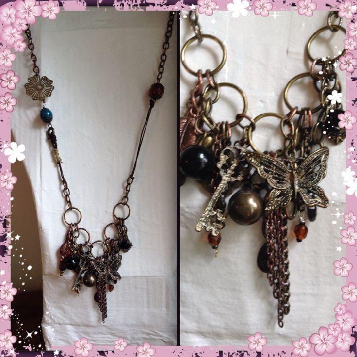 Neclace, boho, gypsy, jewellery, diy Halsband, smycken, berlocker