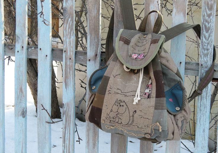 "Купить Муми-рюкзак ""1946"" - рюкзак, муми-тролли, пэчворк, кометаприлетает, бохо, муми-рюкзак"