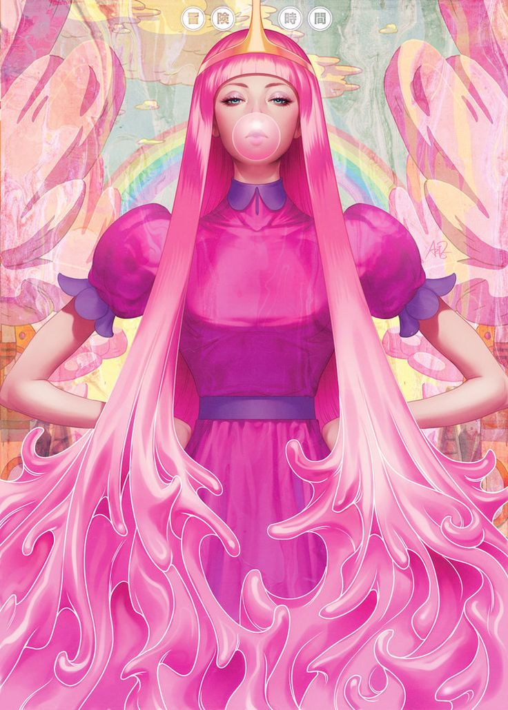 It's Adventure Time for Stanley Lau (aka Artgerm)Princess Bubblegum - the dancing rest