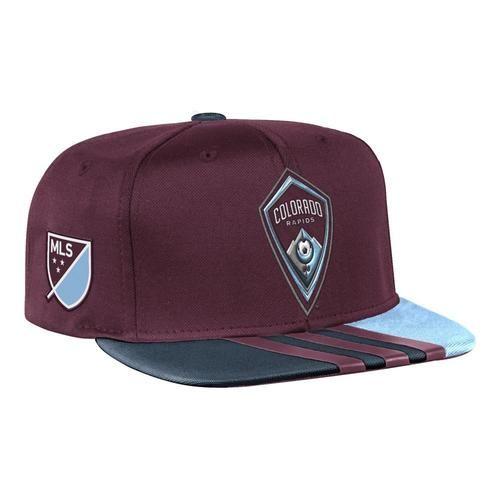Colorado Rapids Hat Adidas Flat Brim Snapback Cap