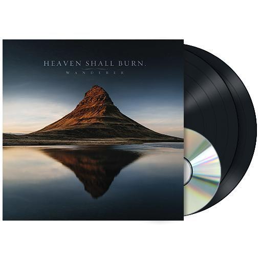 """L'album degli #HeavenShallBurn intitolato """"Wanderer"""" su doppio vinile nero con copertina rigida cartonata gatefold. Edizione limitata a sole 300 copie."""