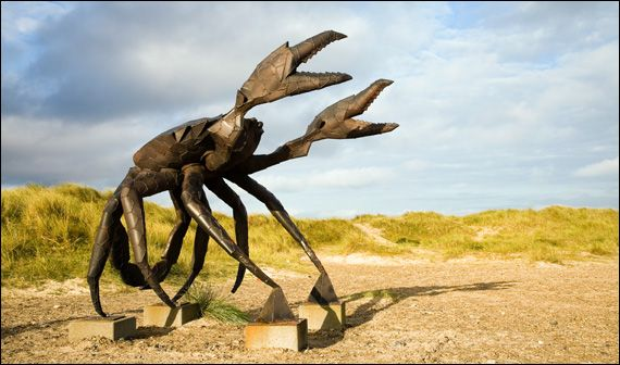 Sculpture on the beach, Slettestrand near Fjerritslev.