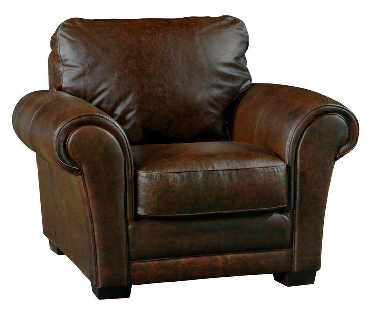Overstuffed arm chair