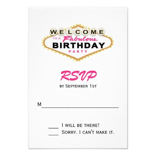 398 best Pink and Black birthday images – Birthday Rsvp Cards