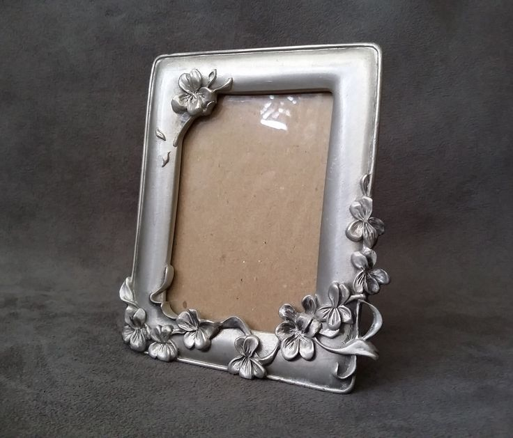 Sweet Floral Picture Frame, 1994 Seagull Pewter Canada Photo Picture Frame, Small Pewter Picture Frame, Ornate Design Frame by MagicVintageStuff on Etsy https://www.etsy.com/listing/295130333/sweet-floral-picture-frame-1994-seagull