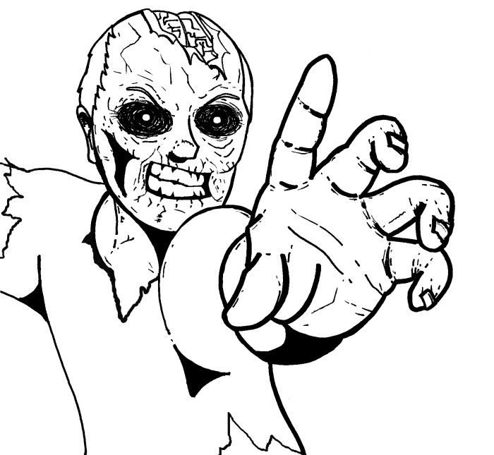 82 best Zombie coloring images on Pinterest