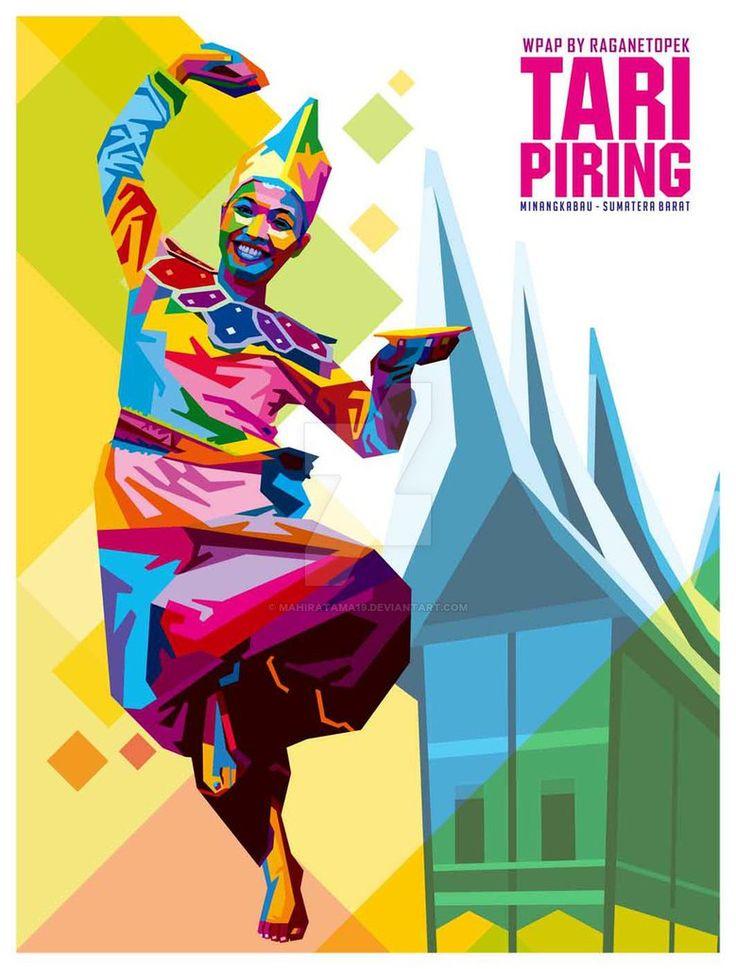 Tari Piring WPAP by mahiratama19.deviantart.com on @DeviantArt