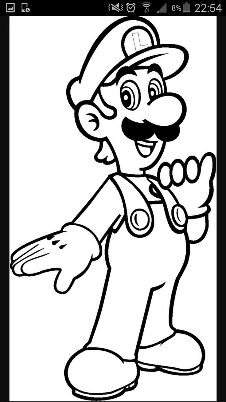 Louis Super Mario Ausmalbilder