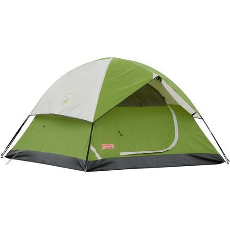 Coleman Sundome 3-Person Tent  I purchased this tent for a weekend campout with family. It sets up in 5 to 10 minutes. A queen size air mattress fits perfectly with a little extra room for gear. It is rated for 3 persons but I would say 2 with some gear would be the limit. There was a thunderstorm during the first night with 3 inches of HEAVY rain and 30 mph sustained winds and gust up to 40. The tent preformed fantastically. Everything stayed in place and there was not a drop of water…