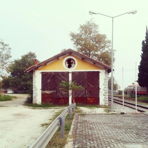 Kalambaka, train station. Greece. ♡