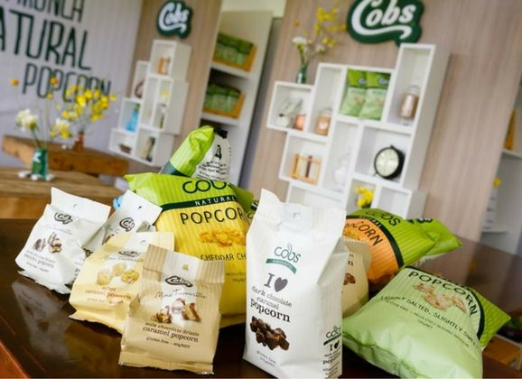 COBS POPCORN – TAKING POPCORN TO A NEW LEVEL  Cobs Popcorn is made using the purest of ingredients using traditional cooking methods.  It is so crunchy and fresh and comes in a range of delicious flavours to suit the whole family.