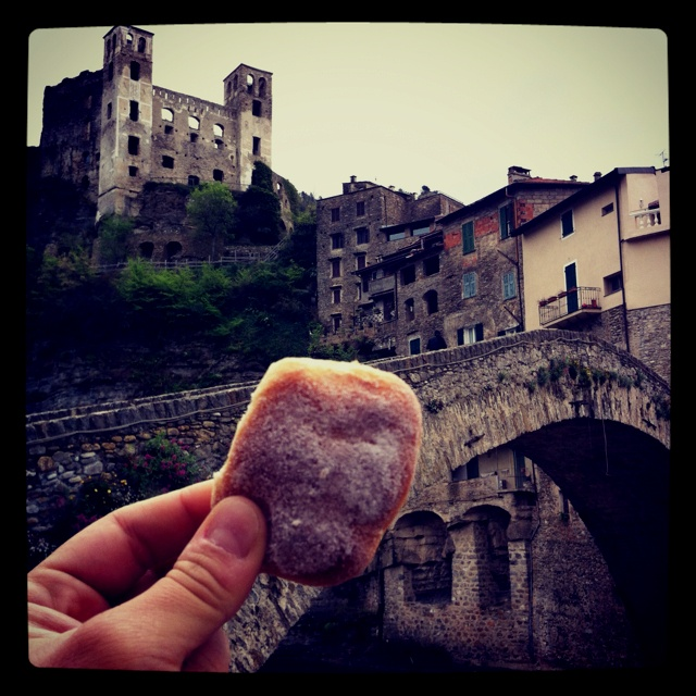 This is a michetta, the official Dolceacqua's biscuit!