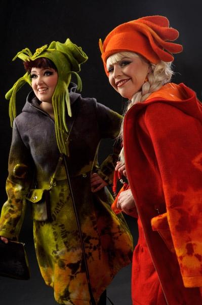 amazing felted clothing and hats by Elina Saari